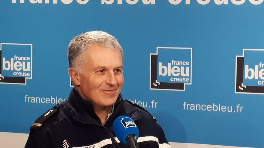 Jean-François Lachérade, référent sûreté des gendarmes de la Creuse
