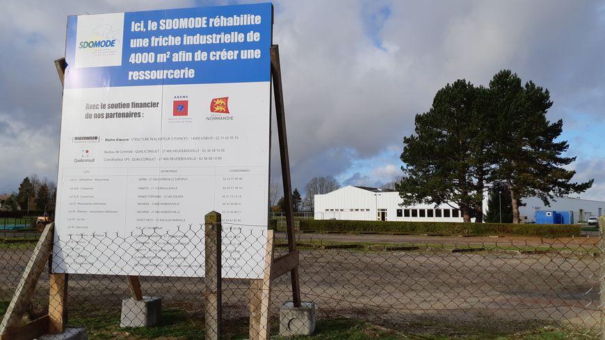 La ressourcerie du SDOMODE ouvrira en avril 2020. Elle est située dans la friche industrielle d'Éclair Prym à Menneval