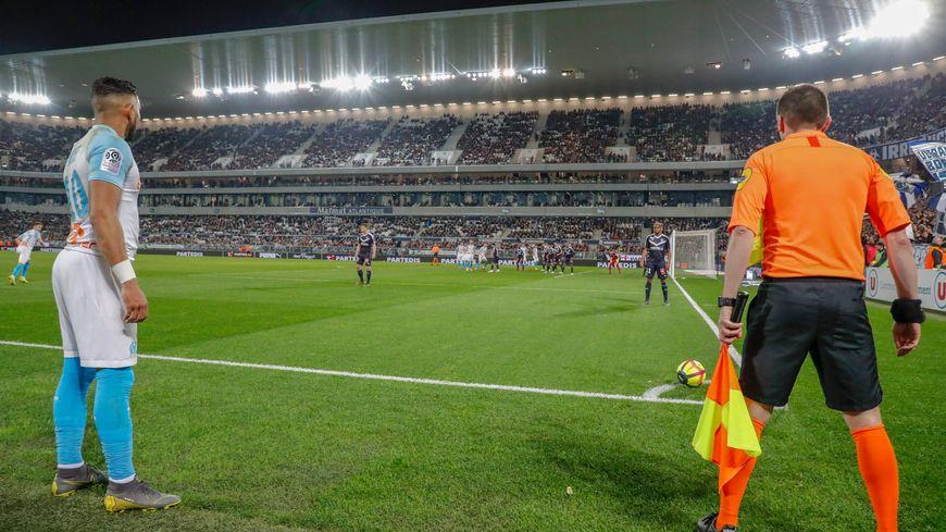 L'Olympique de Marseille face aux Girondins de Bordeaux lors de la saison 2018 - 2019 de Ligue 1