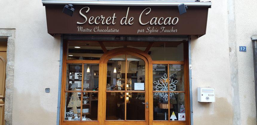 La boutique Secret de Cacao au coeur du centre ville de Langogne