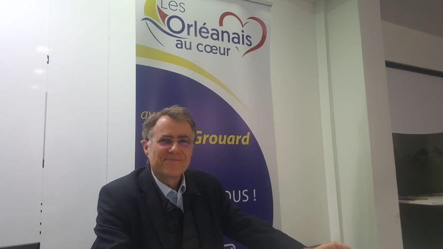 Serge Grouard, lors de la présentation de son programme électoral, à Orléans, le 21 janvier 2020