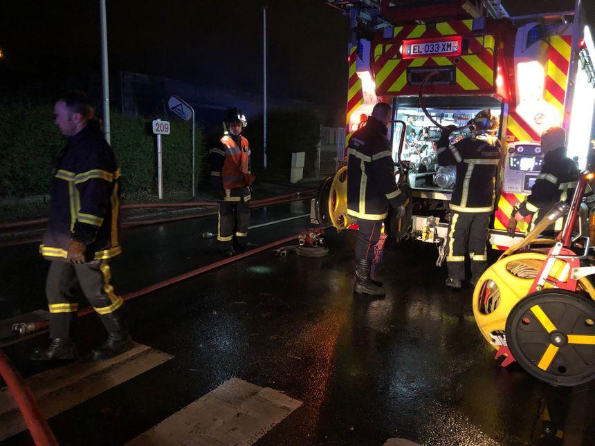 Une quarantaine de pompiers est intervenue sur le sinistre