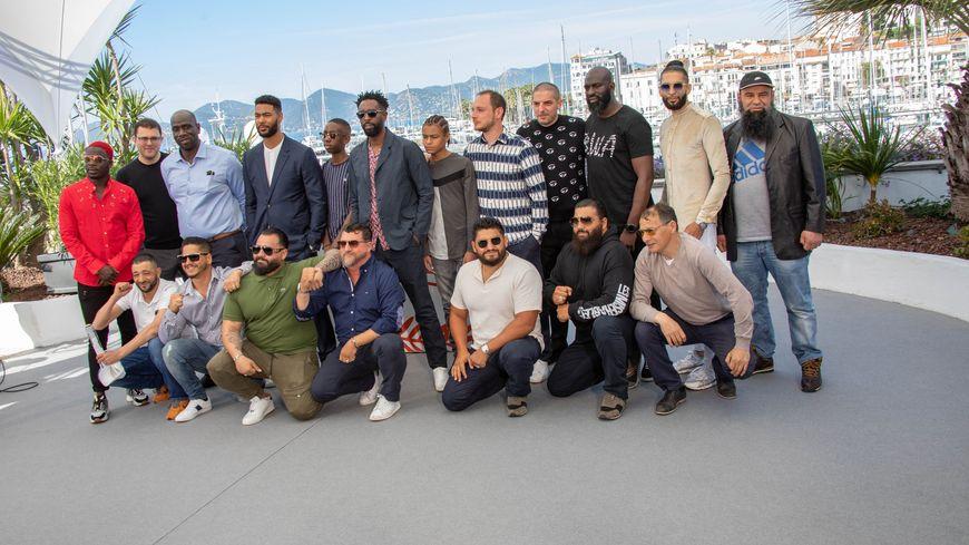 """L'équipe du film """"Les Misérables"""" au Festival de Cannes en mai 2019"""