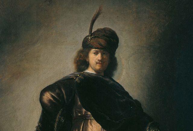 Portrait de l'artiste en costume oriental - Rembrandt vers 1631