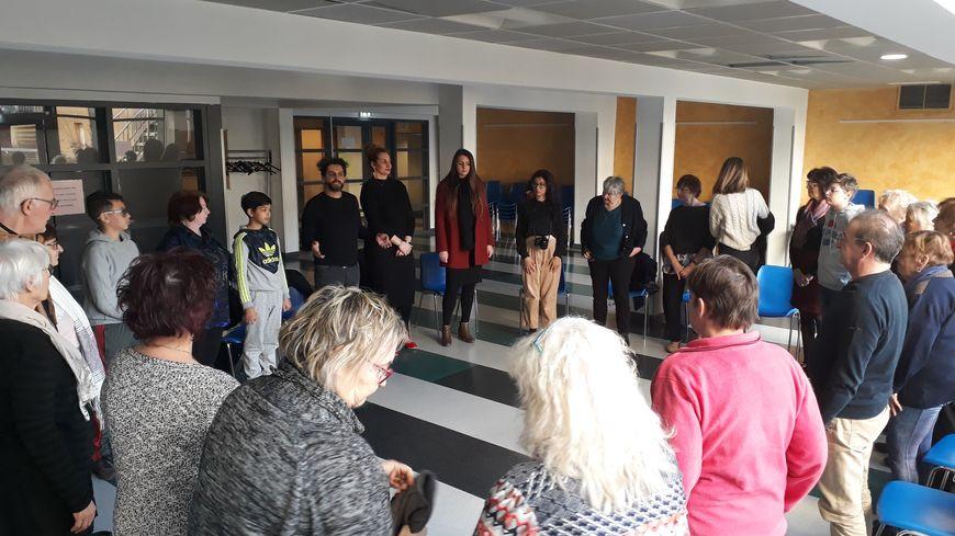 Une vingtaine de personnes a assisté à la première séance de la chorale.