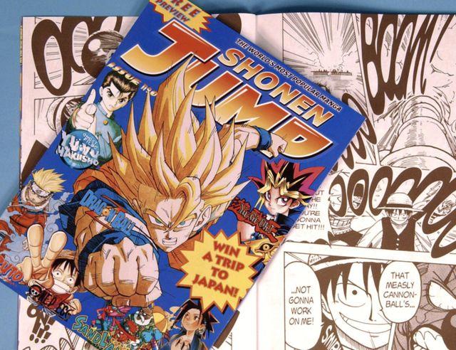 """Le magazine de BD japonais """"Weekly Shōnen Jump"""" dans sa version américaine, 2002"""