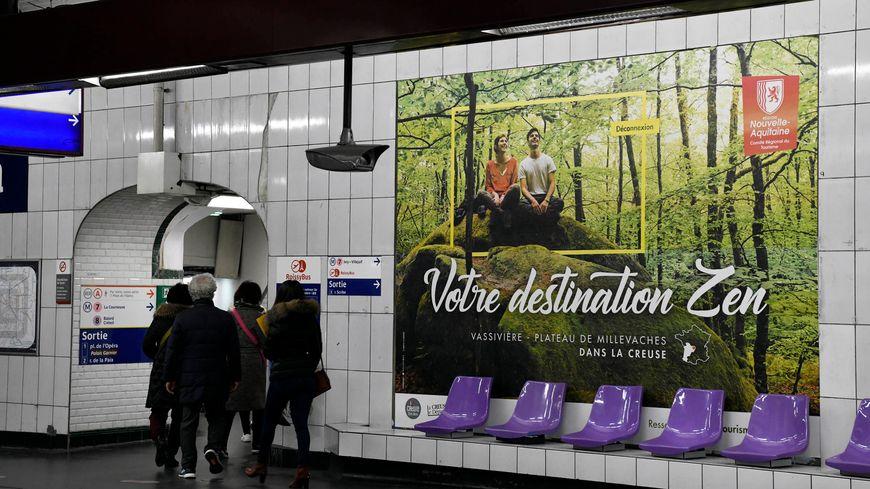 Après la Creuse en ce début d'année 2020 (affiche ci-dessus), la Haute-Vienne devrait aussi s'afficher dans le métro parisien dans les prochains mois.