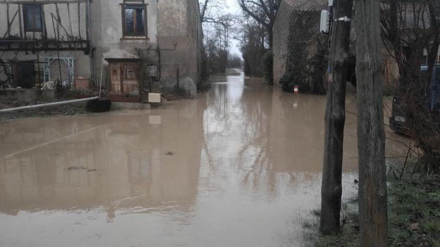 Inondations dans la commune de Gaudiès en Ariège