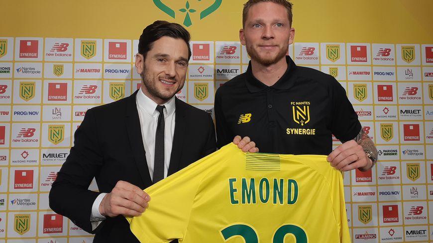 Le nouvel attaquant du FC Nantes, Renaud Emond, a été présenté ce jeudi midi à la Jonelière, au lendemain de la signature de son contrat.