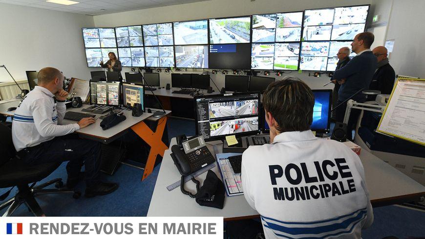 Un centre ce surveillance de police municipale (illustration)