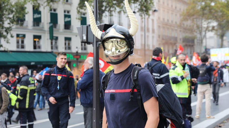 Manifestation de pompiers professionnels à Paris (15 octobre 2019)