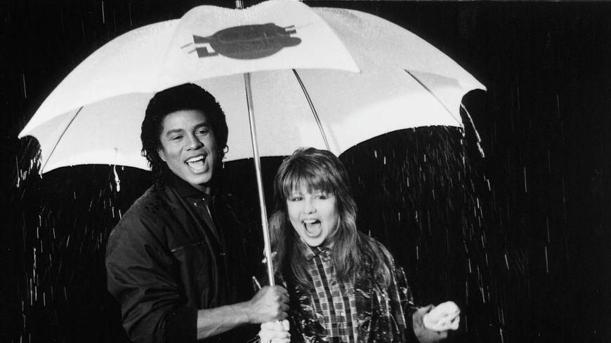 Germaine Jackson et Pia Zadora en 1985.