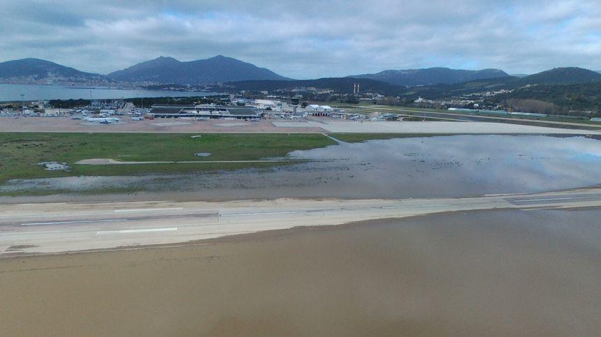 Les pistes inondées.