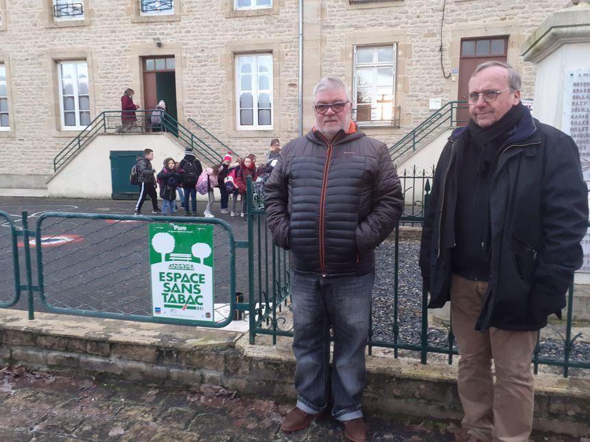 Yves Mozet, le maire de Pure, et son premier adjoint, Bertrand Pouyet