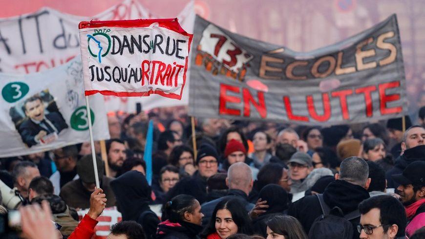 Dans la manifestation parisienne, ce jeudi.