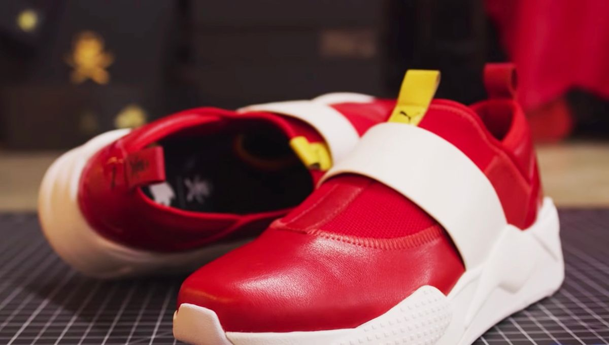 puma chaussures rouge