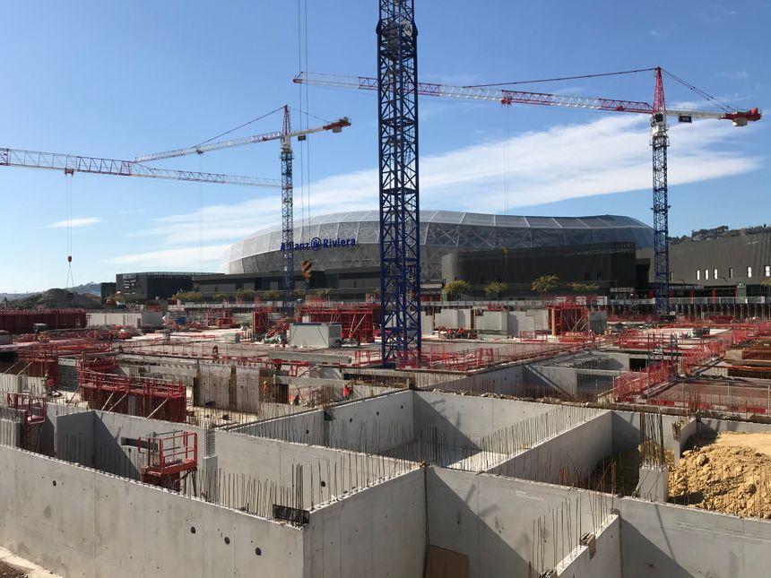 30% des travaux du futur magasin Ikea sont réalisés au pied du stade