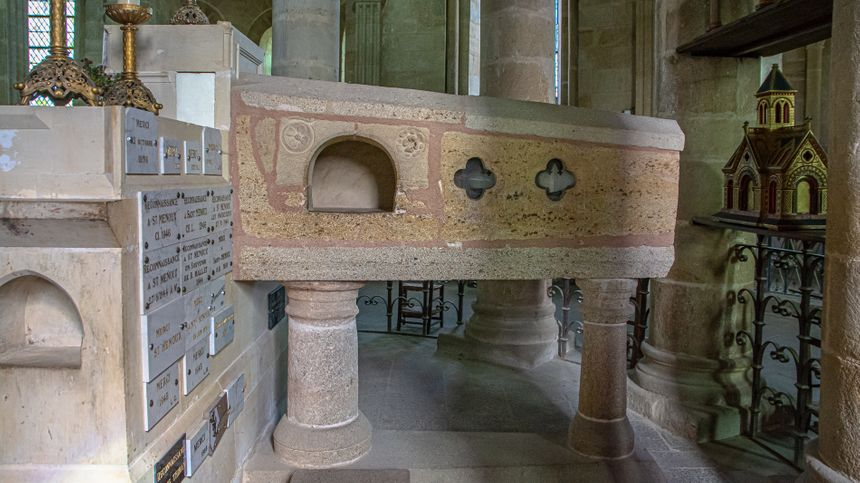 Le sarcophage de St Ménulphe - Radio France