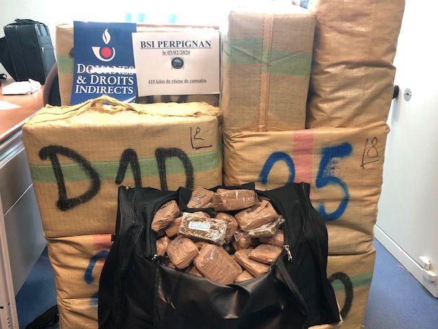 Le 5 février, les douaniers de Perpignan ont mis la main sur plus de 400 kilos de cannabis.  - Aucun(e)