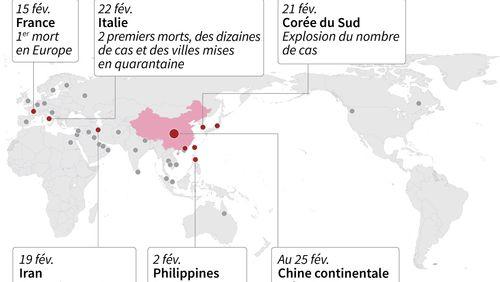 La propagation du nouveau coronavirus s'accélère dans le monde