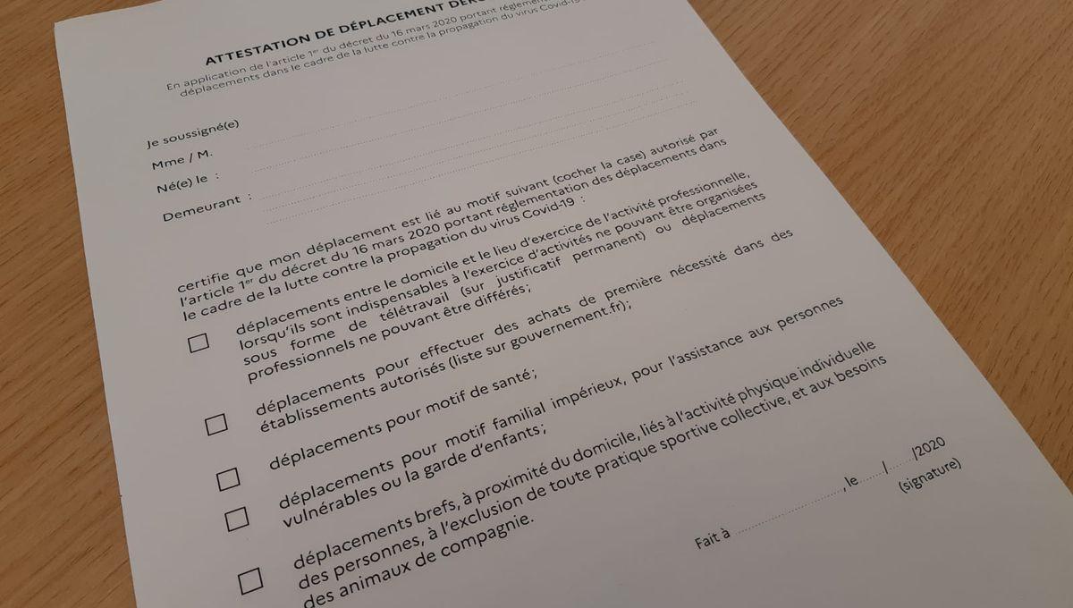 Confinement L Article A Lire Pour Tout Comprendre Sur Les Attestations De Deplacement