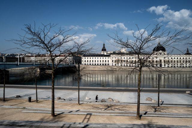 Le long du Rhône, à Lyon