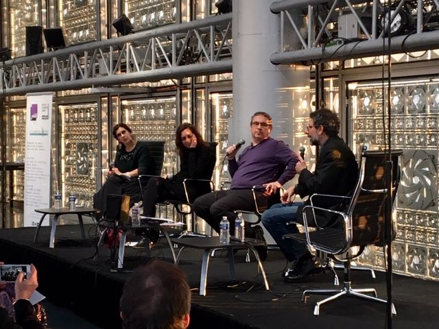 Manon-Nour Tannous, Hind Meddeb, Emmanuel Laurentin et Ziad Majed à l'Institut du Monde Arabe