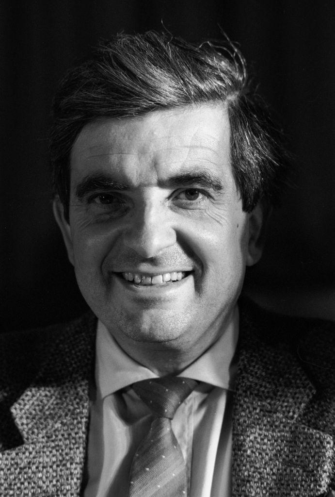 Jean-Pierre Chevènement le 5 février 1986 à Nantes, France.