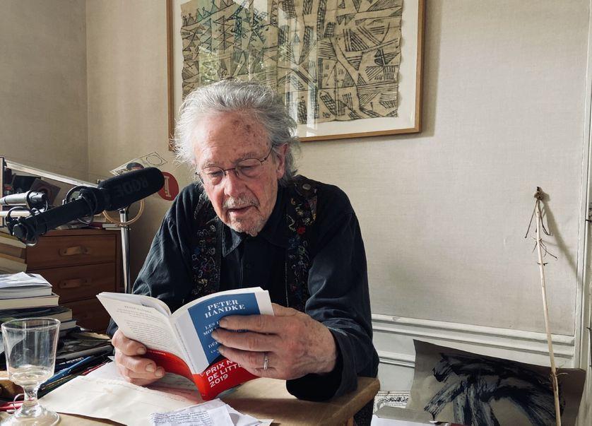 Peter Handke durant l'entretien.