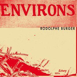 """Pochette de l'album """"Environs"""" par Rodolphe Burger"""