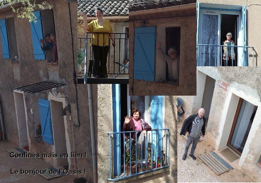 La coopérative d'habitants la Maison de Lorgues prés de Draguignan dans le Var à l'heure du confinement.