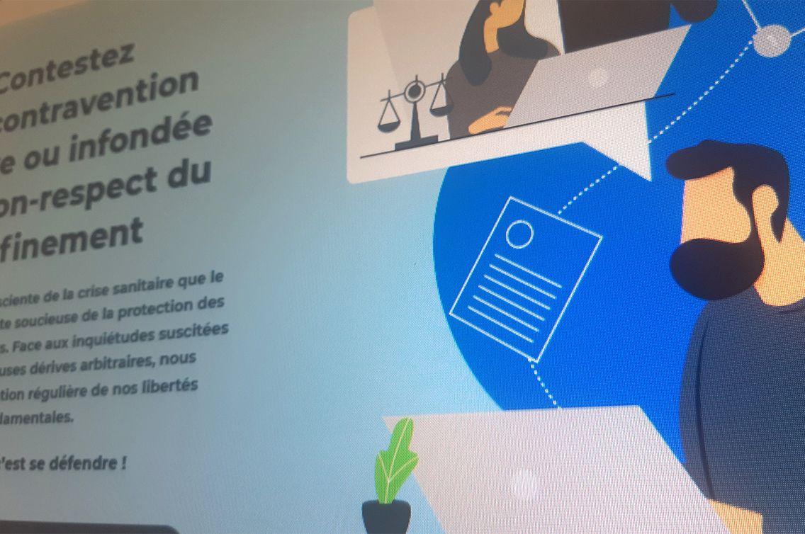 Capture d'écran du site pvconfinement.fr