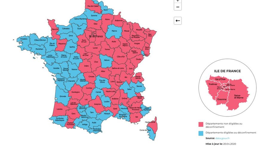 carte départements