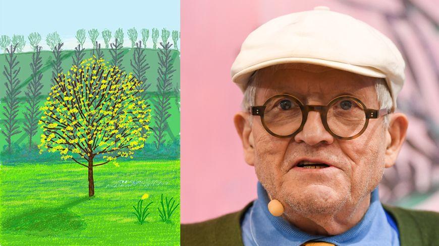 Le peintre britannique, qui s'est installé dans le Pays d'Auge, profite du confinement pour peindre la nature au printemps.