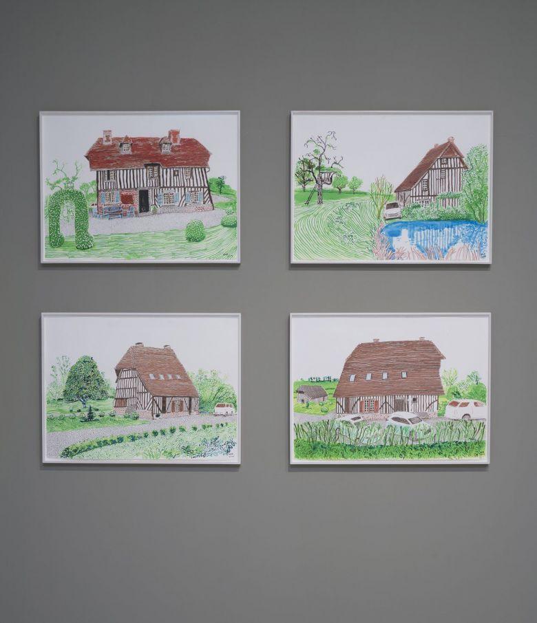 David Hockney a peint sa maison du Pays d'Auge et les toiles ont été exposées à New-York en septembre 2019.