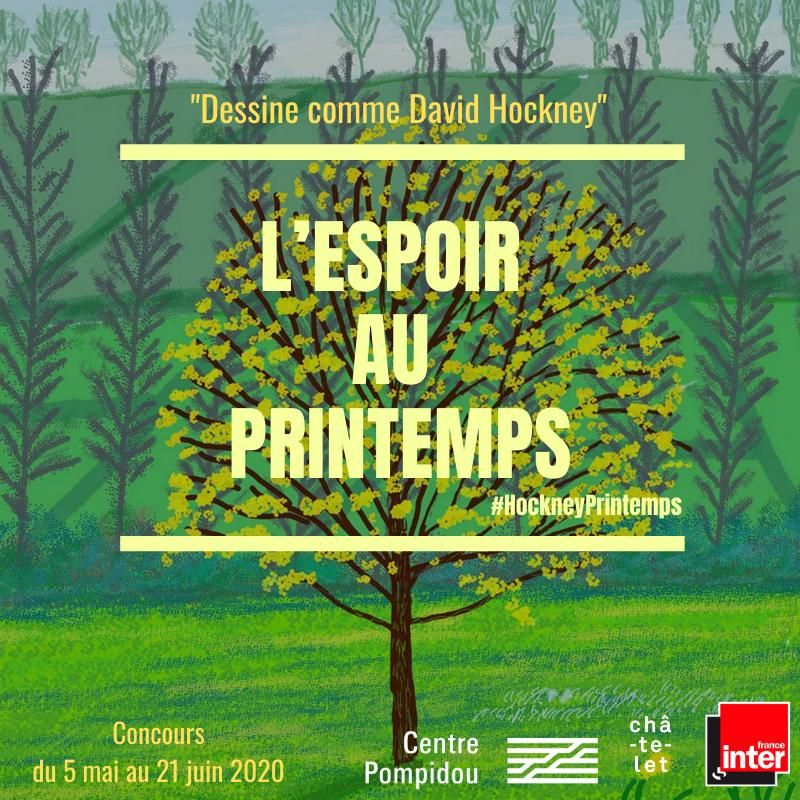 France Inter Le Centre Pompidou Et Le Theatre Du Chatelet Lancent Un Appel A Dessiner Le Printemps