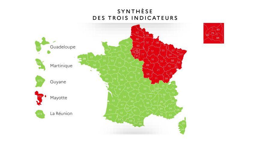 Carte Deconfinement Quatre Regions En Rouge Dont L Ile De France Plus Mayotte