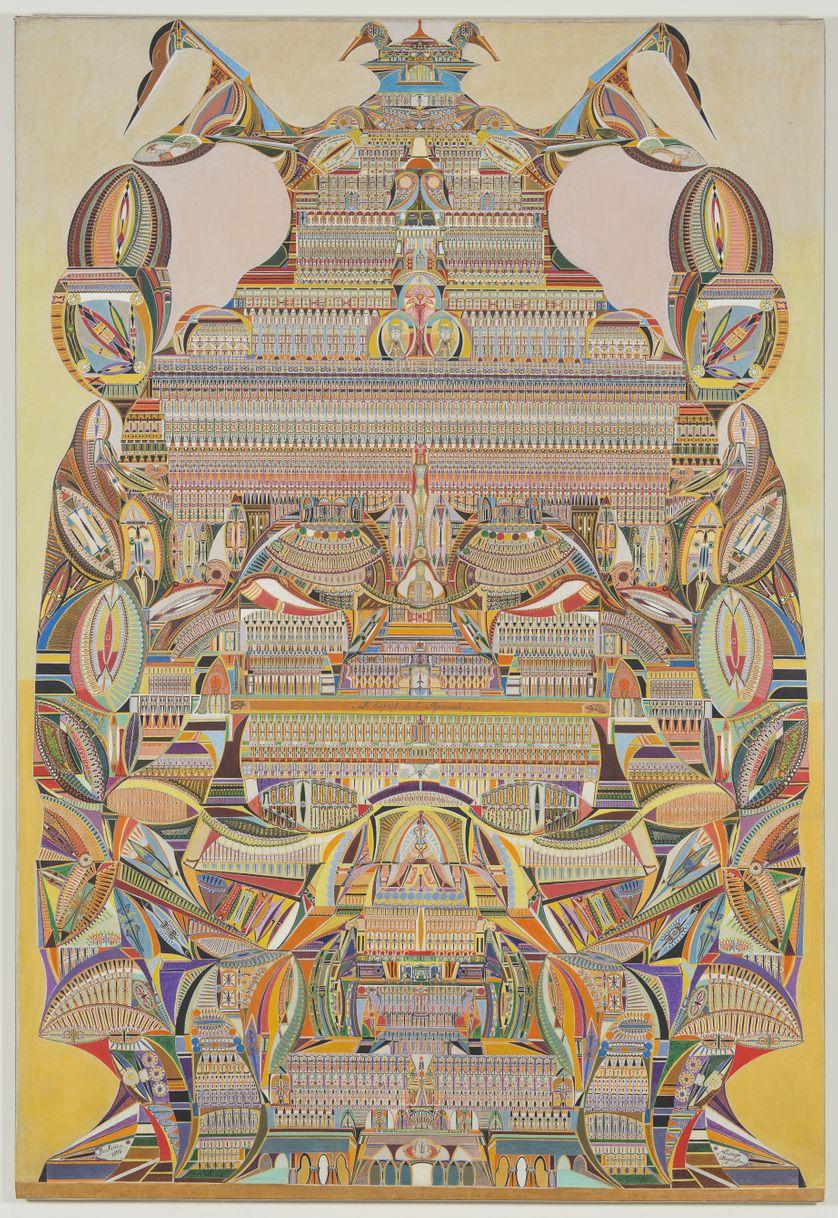 Vivez une expérience hypnotique grâce aux œuvres d'Augustin Lesage, peintre spirite