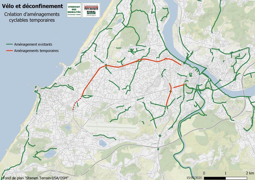 Carte Deconfinement Au Pays Basque 9 Kilometres De Nouvelles Pistes Cyclables Sur Le Bab