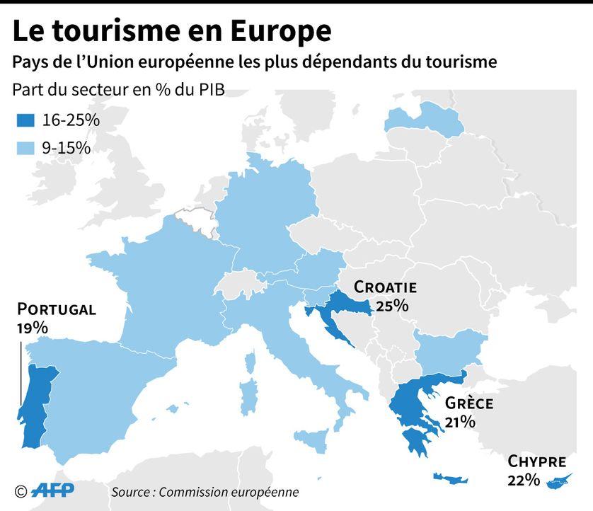 carte europe touristique
