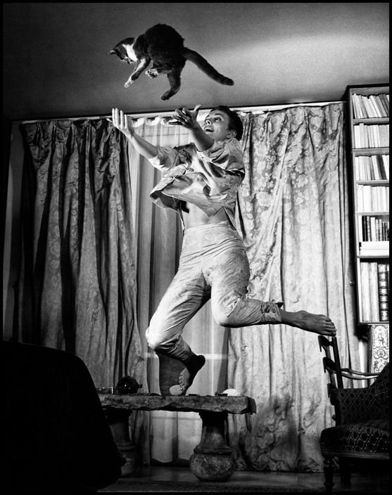 """L'actrice Jean Seberg, l'année où elle a rencontré Romain Gary, en 1959 - série """"jumpology"""""""