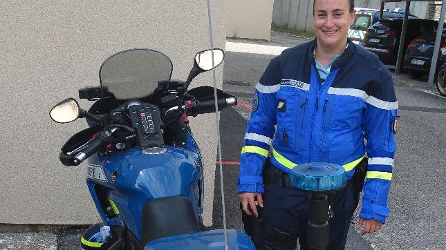 La première femme gendarme à moto en Drôme-Ardèche est arrivée au Teil