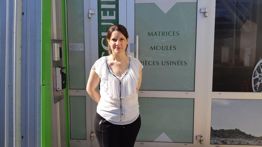 Laure Catoire, présidente de l'entreprise Catoire, à  Martizay