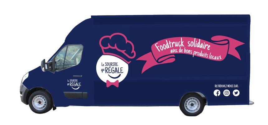 Un visuel du futur food truck de l'entreprise lavalloise Sicomen.