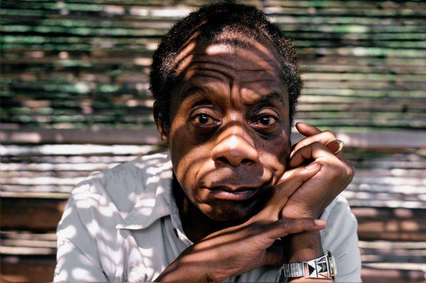 L'écrivain américain James Baldwin à Saint Paul de Vence (France), en septembre 1985