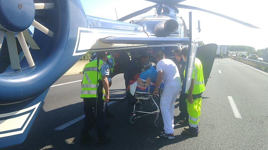 La victime d'un AVC prise en charge par l'hélicoptère des gendarmes