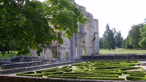 Descente estivale de la Seine : kilomètre 210, l'abbaye du Lys (Dammarie-les-Lys)