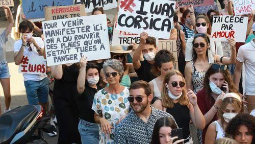 Manifestation contre les violences sexuelles et sexistes à Ajaccio