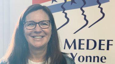 Emmanuèl Bonneau, la nouvelle présidente du MEDEF de l'Yonne