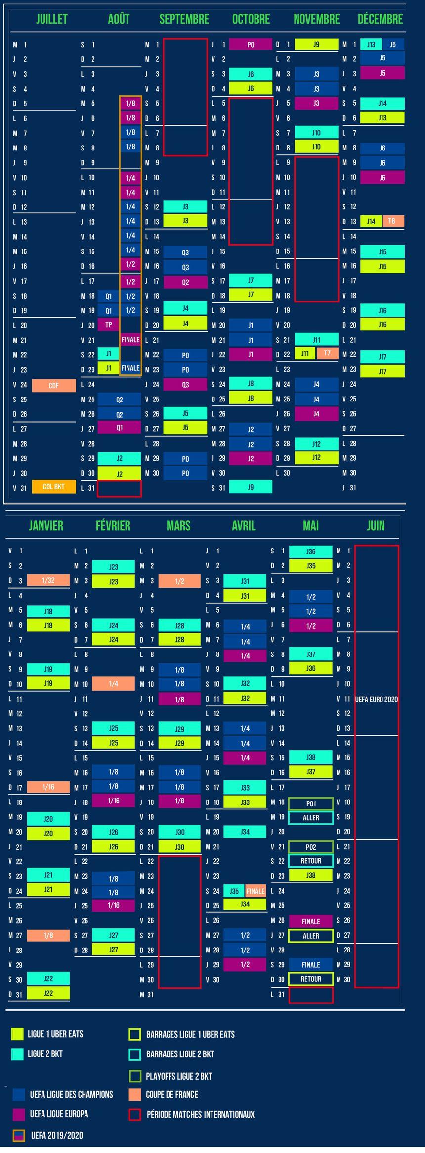 Calendrier Ol 2021 Ligue 1 : le calendrier de l'Olympique Lyonnais pour la saison